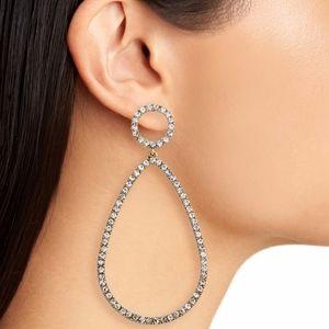 BaubleBar Genevieve Hoop Earrings -NWT